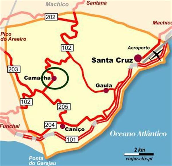 caniço mapa Localização caniço mapa